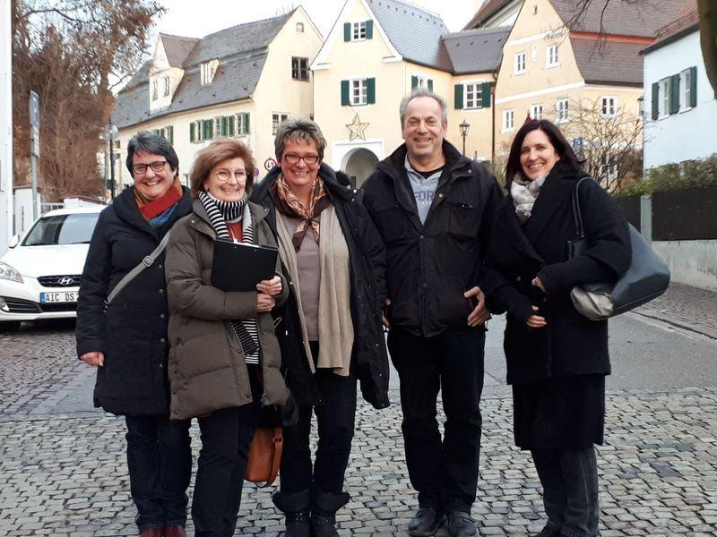 Renate Wiedemann, Ursula Kneißl-Eder, Susanne Beckenlechner, Helmut Wirths und Andrea Schwertberger
